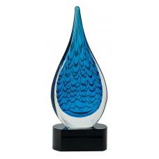 """12.5"""" Blue Rain Teardrop"""